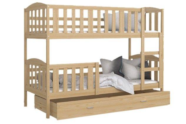 Patrová postel Kubus - 190 x 80 cm borovice
