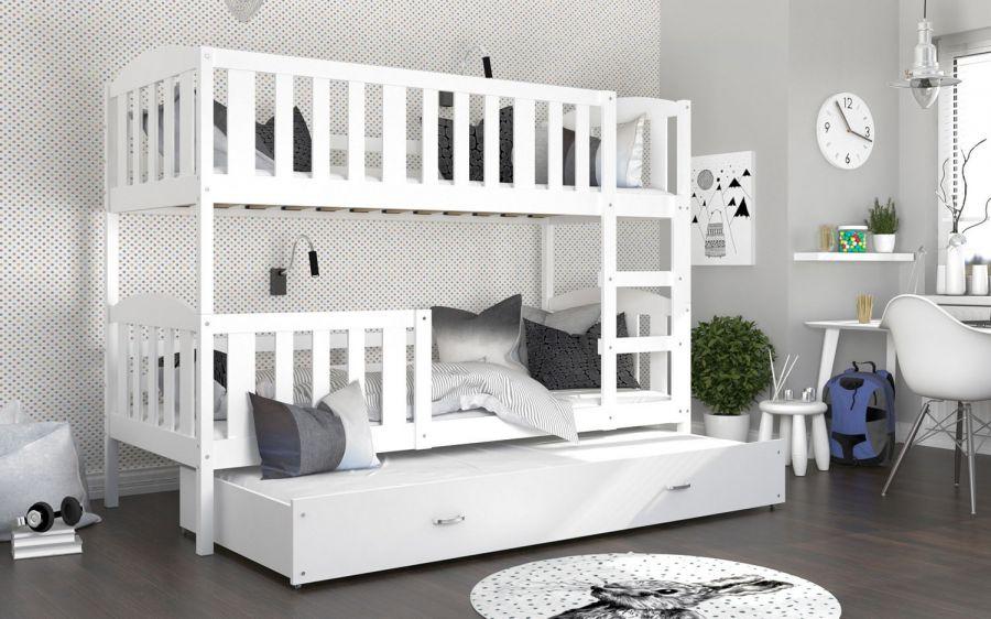 Patrová postel Kubus - bílá